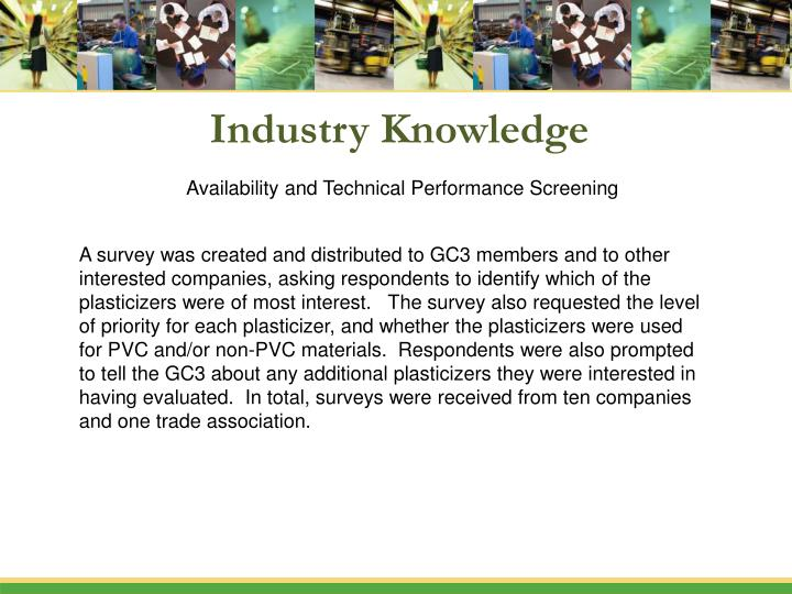 Industry Knowledge