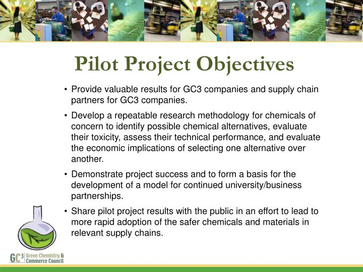 Pilot Project Objectives
