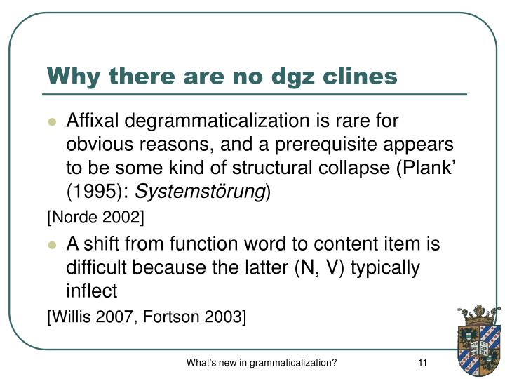 Why there are no dgz clines