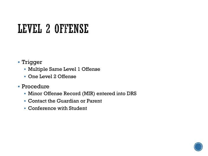 Level 2 Offense