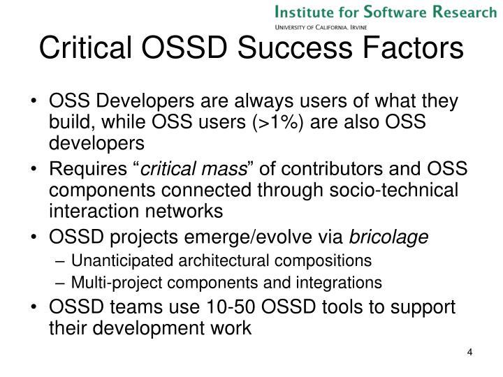 Critical OSSD Success Factors