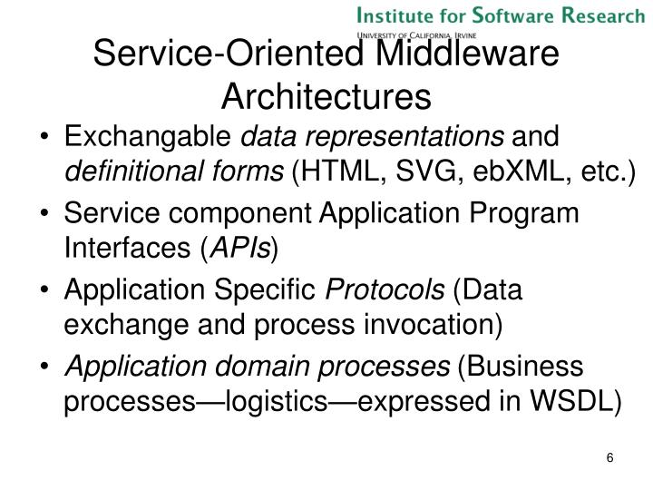 Service-Oriented Middleware Architectures