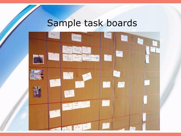 Sample task boards