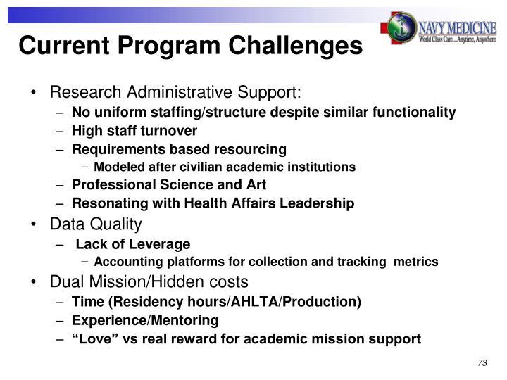 Current Program Challenges