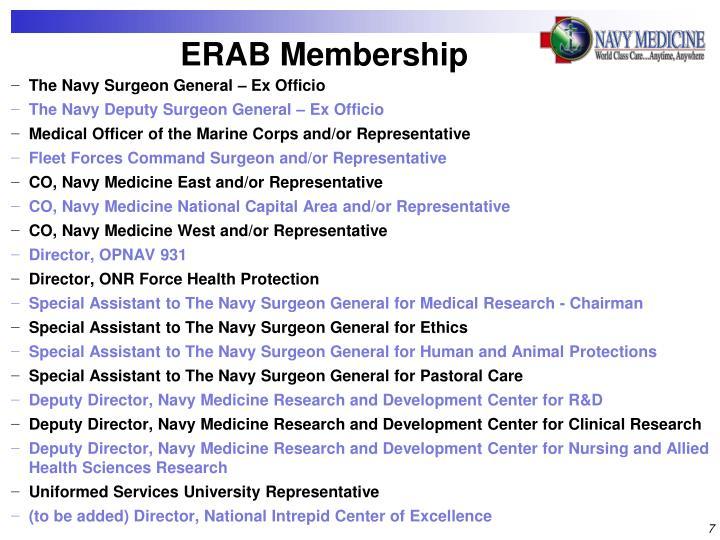 ERAB Membership
