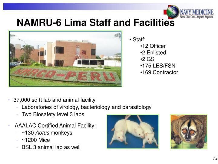 NAMRU-6 Lima Staff and Facilities