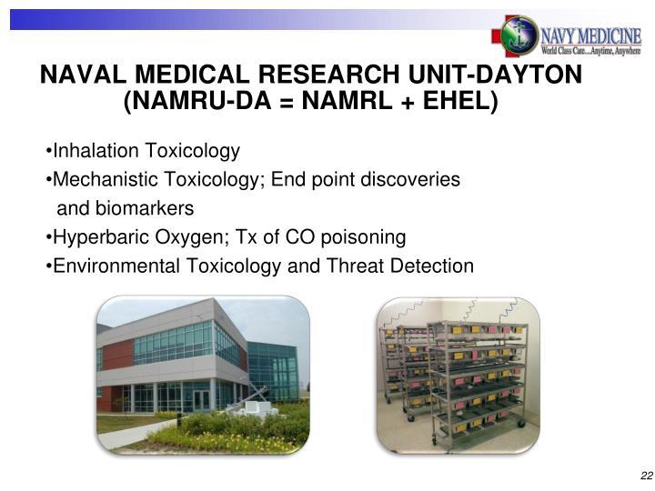 NAVAL MEDICAL RESEARCH UNIT-DAYTON (NAMRU-DA = NAMRL + EHEL)