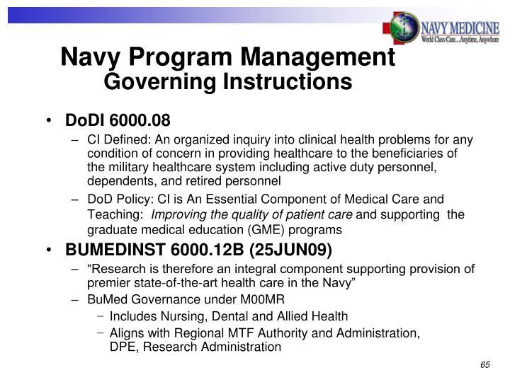 Navy Program Management