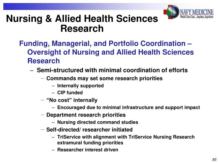 Nursing & Allied Health Sciences Research