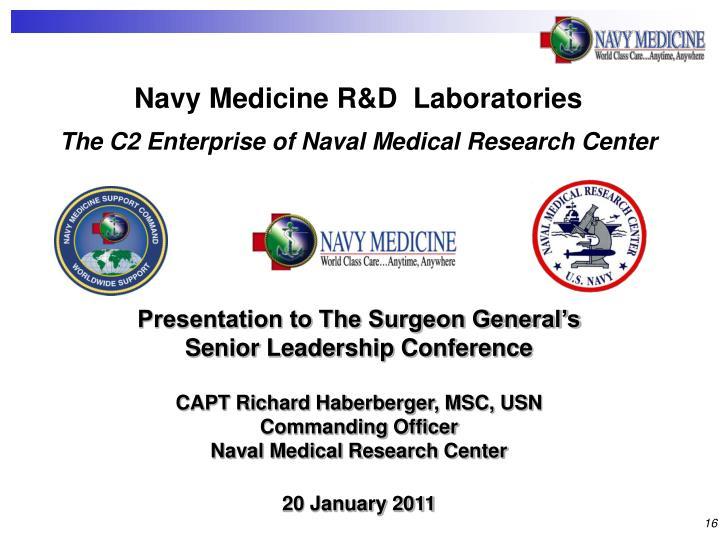 Navy Medicine R&D  Laboratories