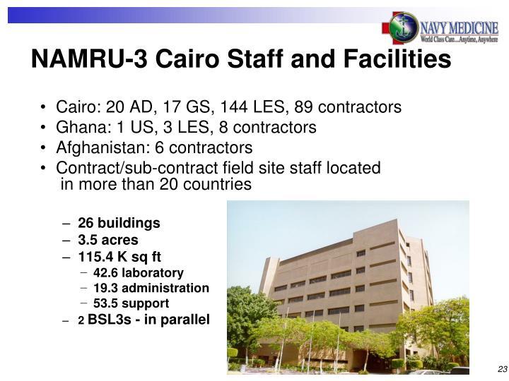 NAMRU-3 Cairo Staff and Facilities