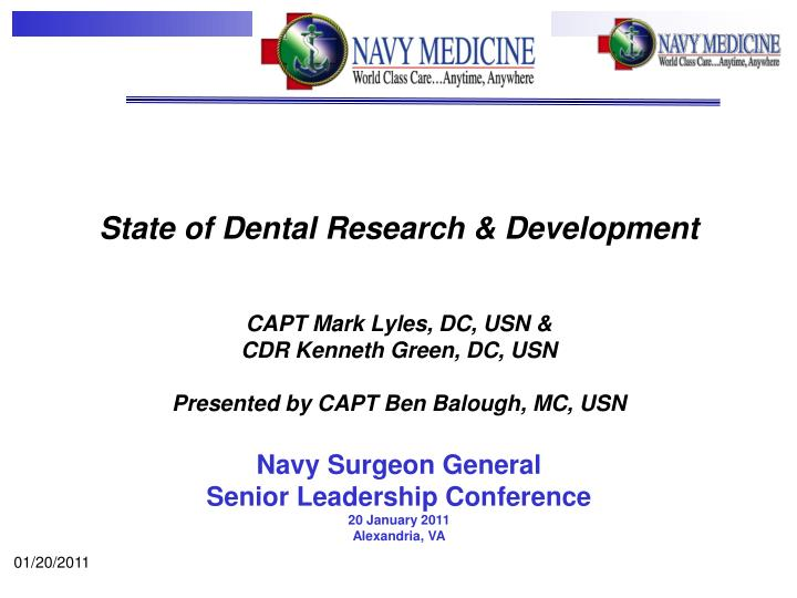State of Dental Research & Development
