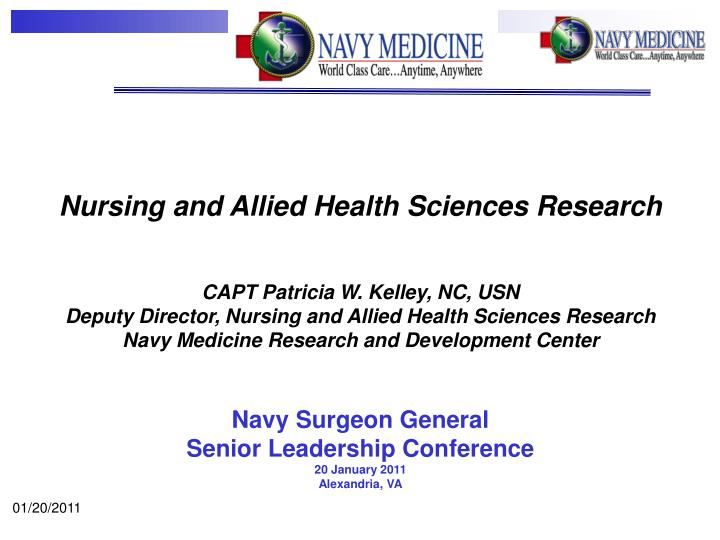 Nursing and Allied Health Sciences Research