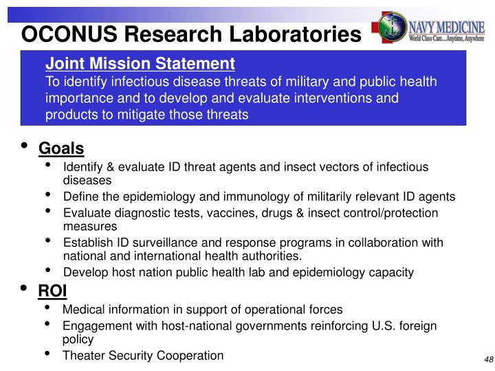 OCONUS Research Laboratories