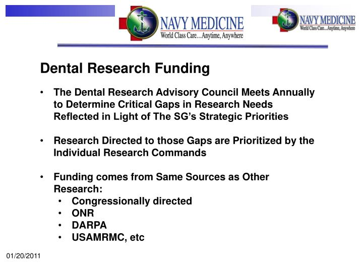Dental Research Funding