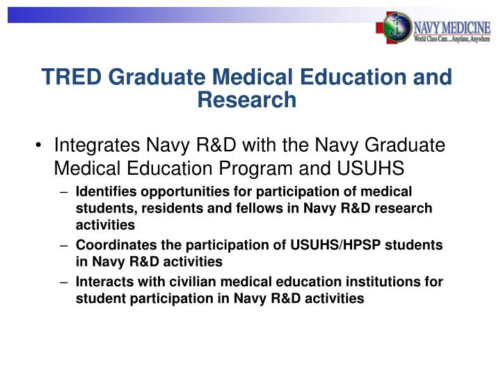 TRED Graduate Medical Education and Research