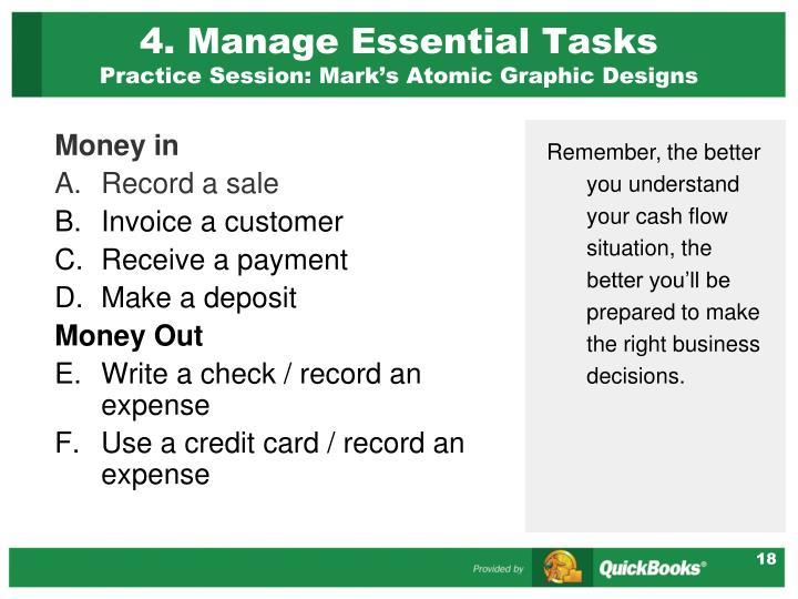 4. Manage Essential Tasks
