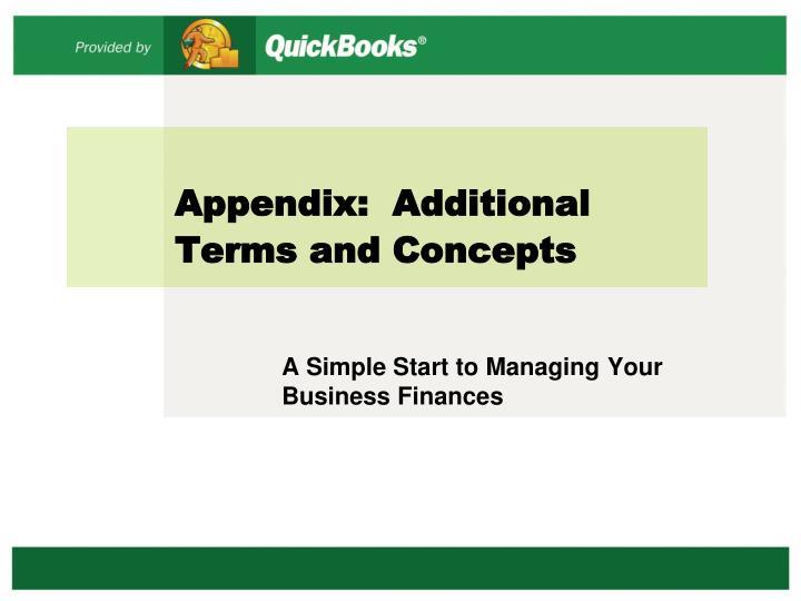 Appendix:  Additional