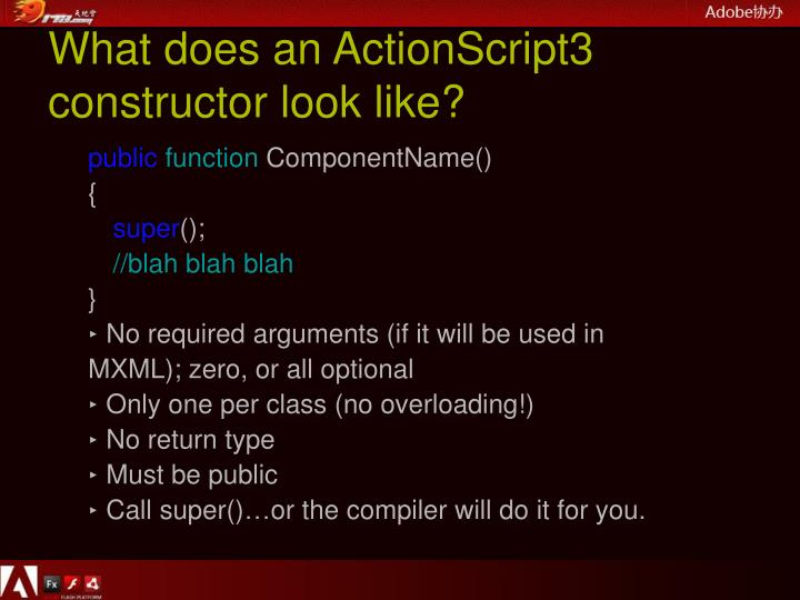 What does an ActionScript3