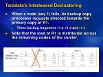 teradata s interleaved declustering