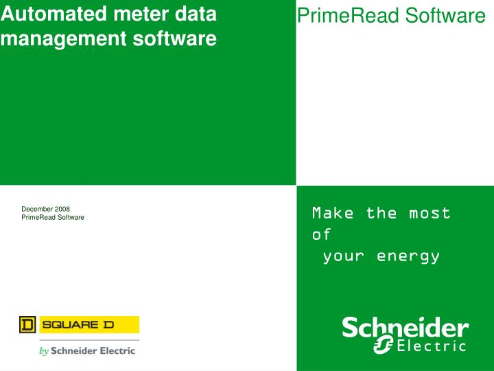 Automated meter data management software