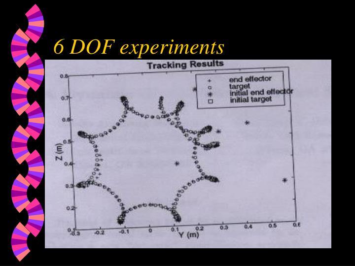 6 DOF experiments