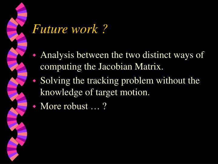 Future work ?