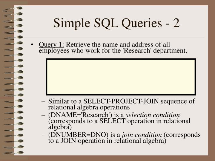 Simple SQL Queries - 2