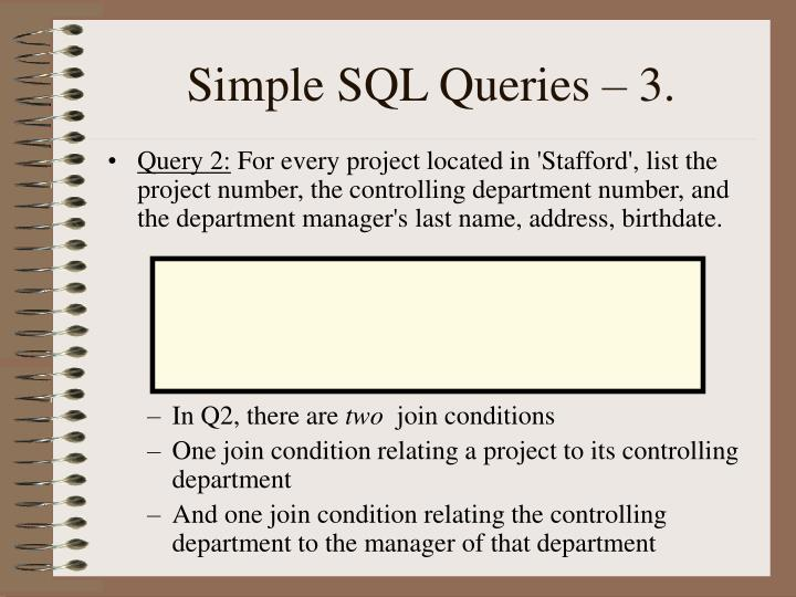 Simple SQL Queries – 3.