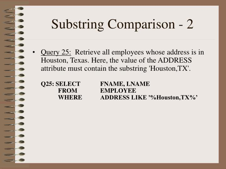 Substring Comparison - 2