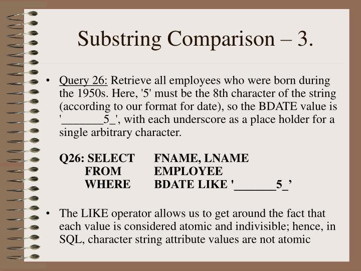 Substring Comparison – 3.
