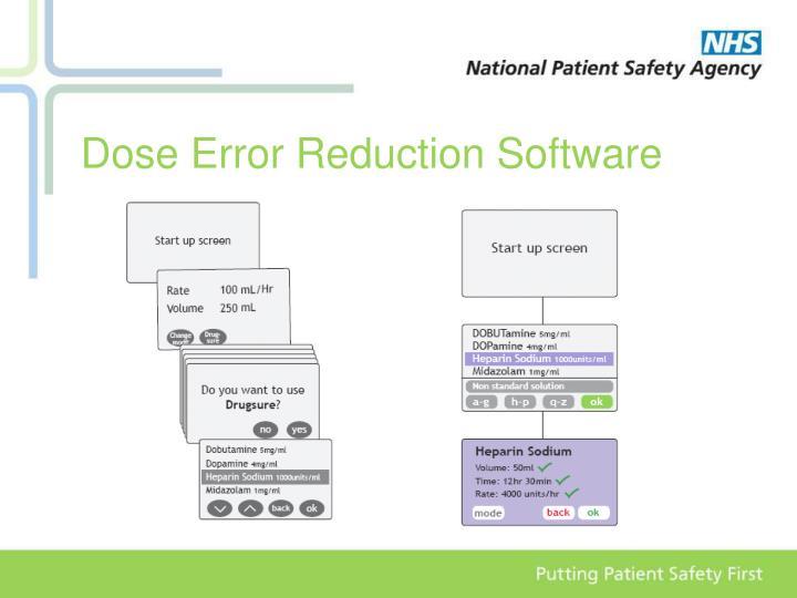 Dose Error Reduction Software