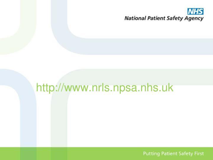 http://www.nrls.npsa.nhs.uk