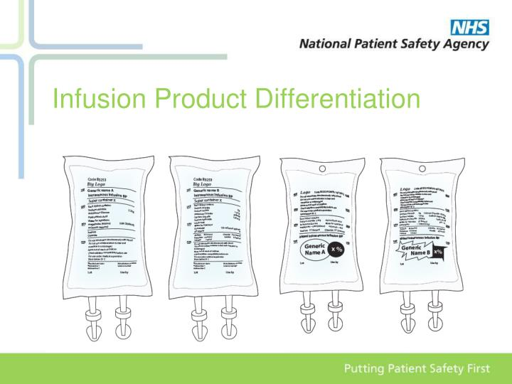 Infusion Product Differentiation