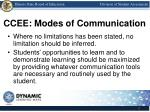ccee modes of communication