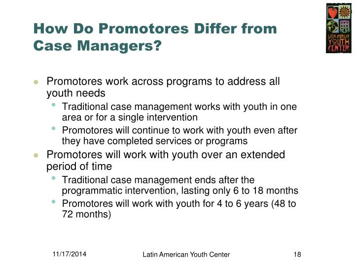 How Do Promotores Differ from Case Managers?