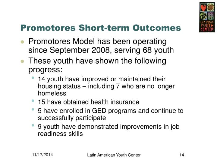 Promotores Short-term Outcomes