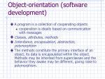 object orientation software development