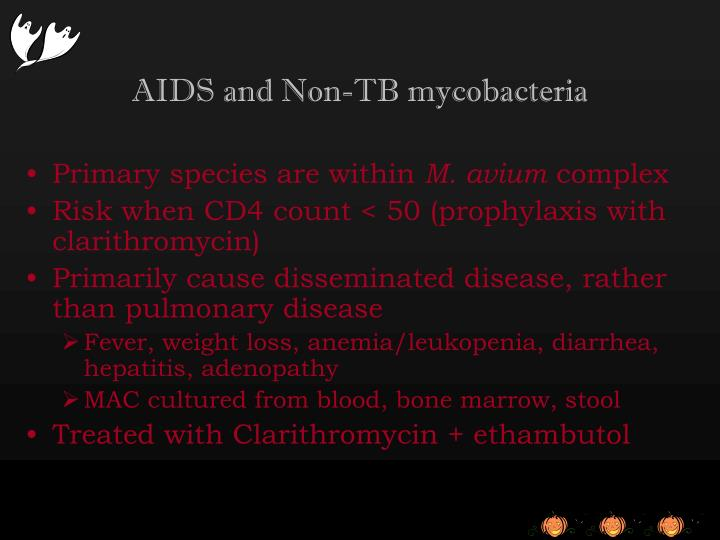 AIDS and Non-TB mycobacteria