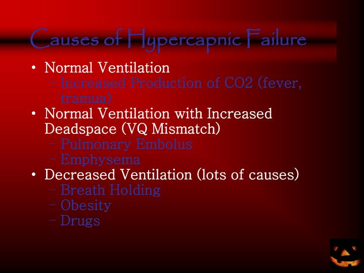 Causes of Hypercapnic Failure