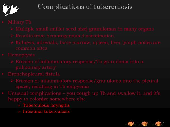 Complications of tuberculosis
