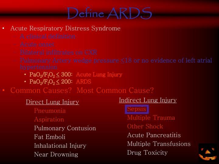 Define ARDS