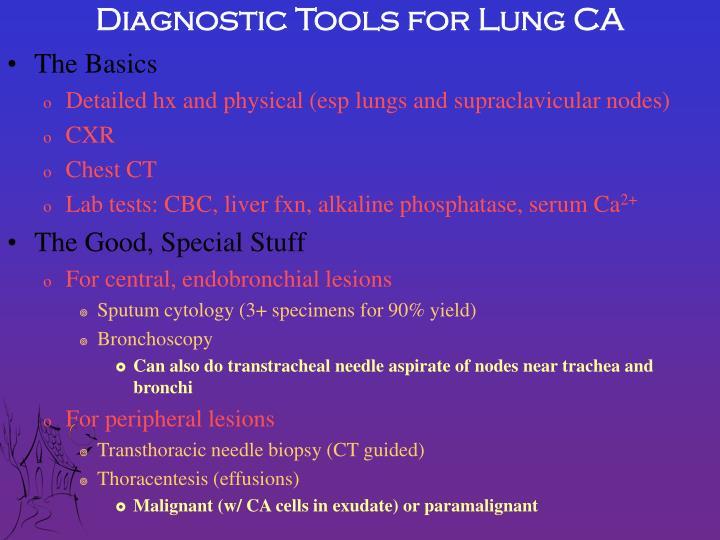 Diagnostic Tools for Lung CA