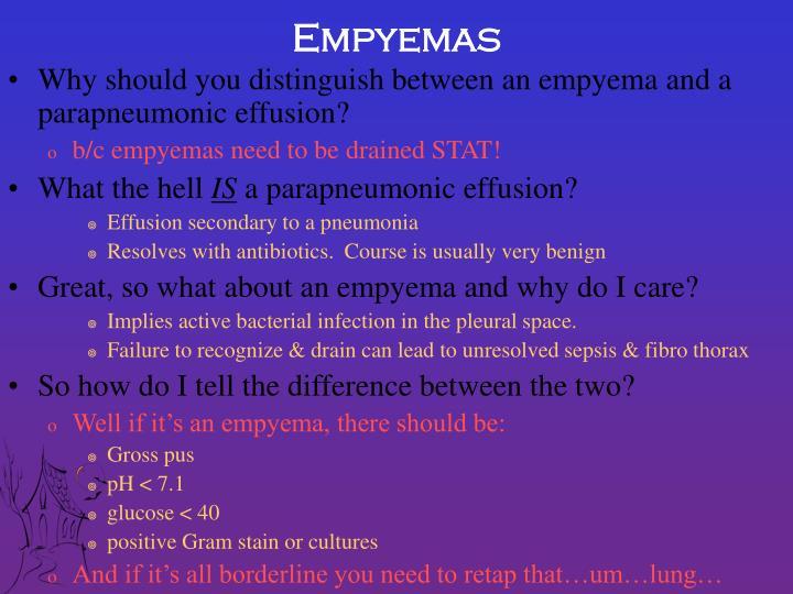 Empyemas