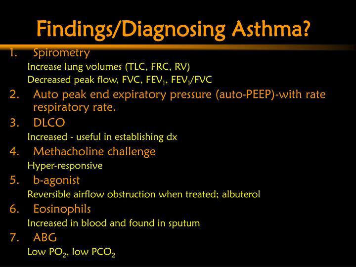 Findings/Diagnosing Asthma?