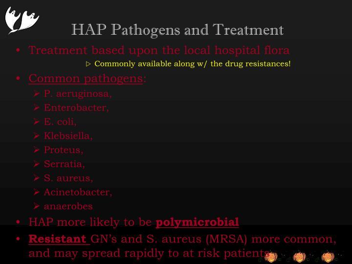 HAP Pathogens and Treatment