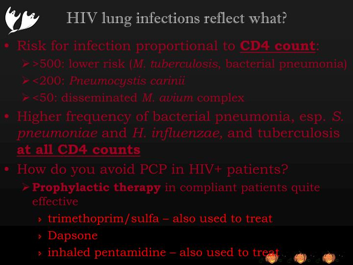 HIV lung infections reflect what?