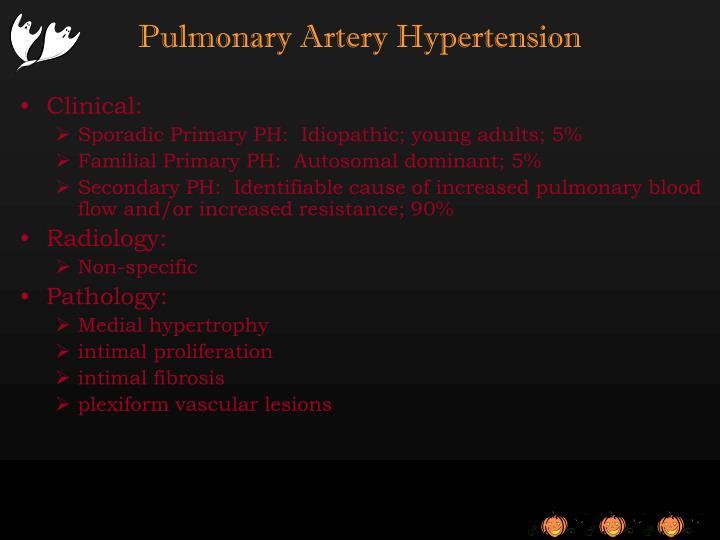 Pulmonary Artery Hypertension