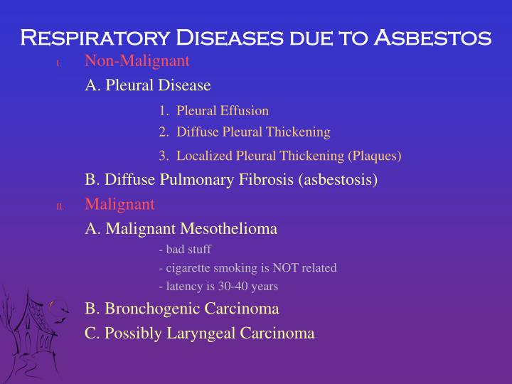 Respiratory Diseases due to Asbestos