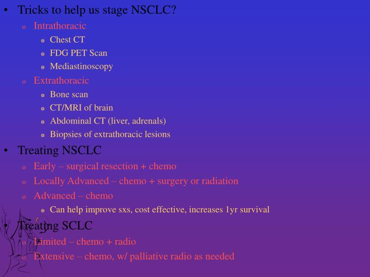 Tricks to help us stage NSCLC?